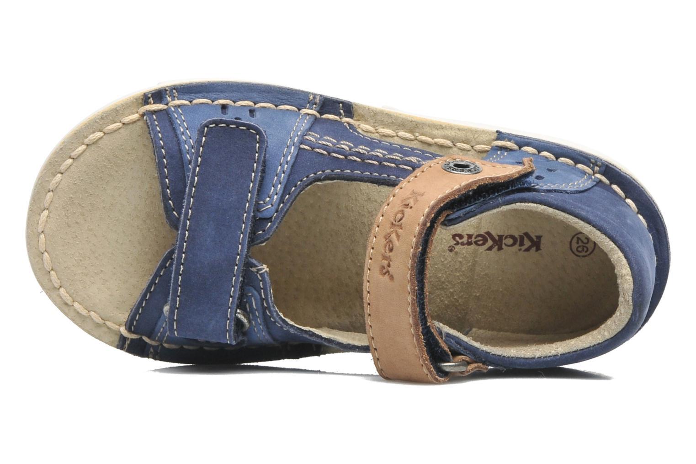 Sandales et nu-pieds Kickers Wasabi Bis Bleu vue gauche