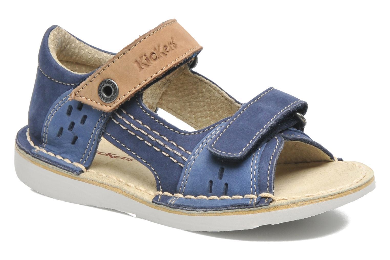 Sandales et nu-pieds Kickers Wasabi Bis Bleu vue détail/paire