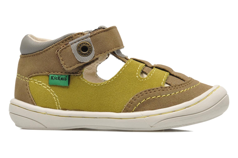 Sandales et nu-pieds Kickers Zelou Vert vue derrière