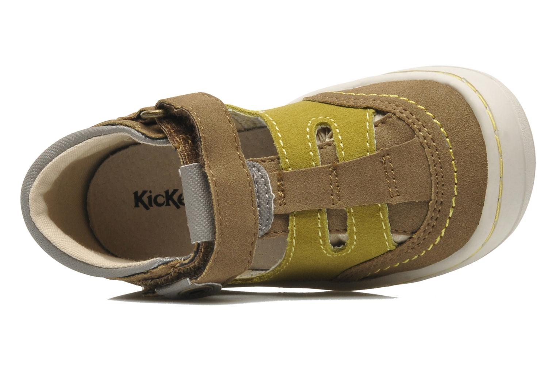 Sandales et nu-pieds Kickers Zelou Vert vue gauche
