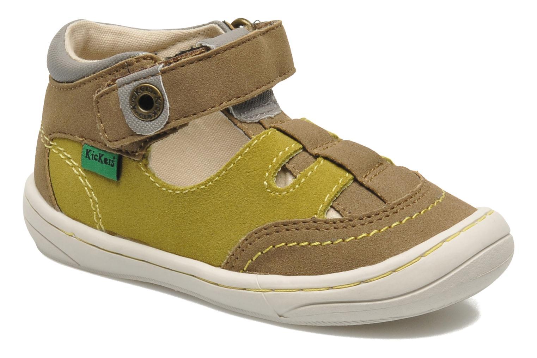 Sandales et nu-pieds Kickers Zelou Vert vue détail/paire