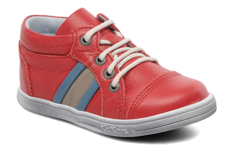 Sneakers Kickers Transfix Rood detail