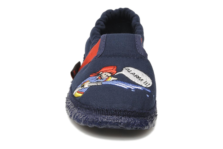 Chaussons Giesswein Aurich Bleu vue portées chaussures