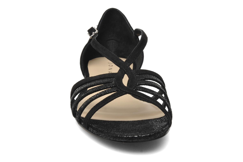 Sandales et nu-pieds Jonak Vulia Noir vue portées chaussures