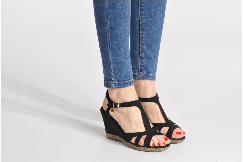 Sandales et nu-pieds Xti Anne Noir vue bas / vue portée sac