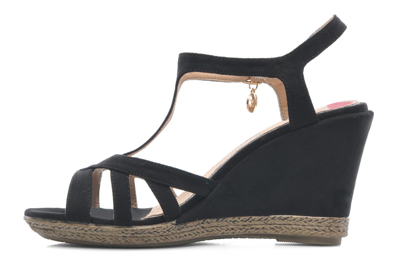 Sandales et nu-pieds Xti Anne Noir vue face