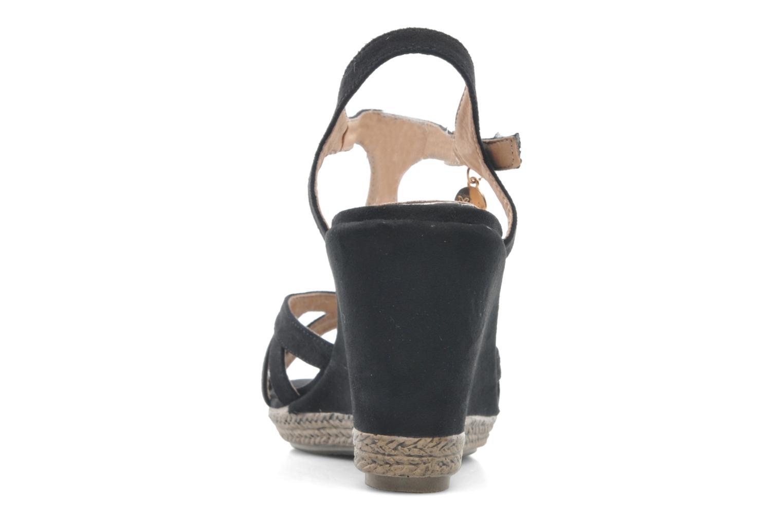Sandales et nu-pieds Xti Anne Noir vue droite