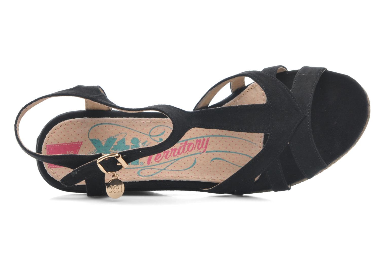Sandales et nu-pieds Xti Anne Noir vue gauche