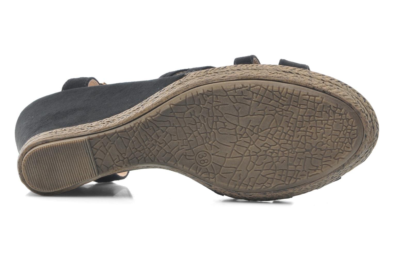Sandales et nu-pieds Xti Anne Noir vue haut