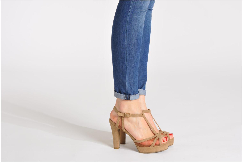 Sandales et nu-pieds Xti Ange Beige vue bas / vue portée sac