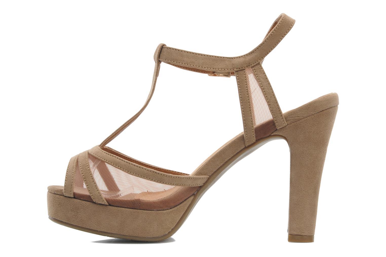 Sandales et nu-pieds Xti Ange Beige vue face