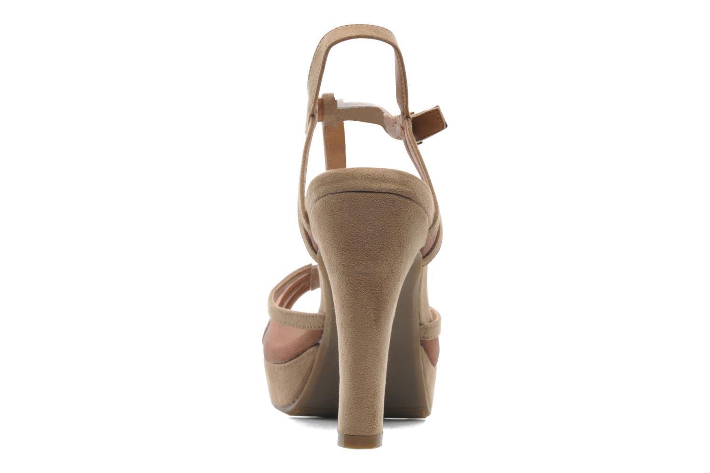 Sandales et nu-pieds Xti Ange Beige vue droite