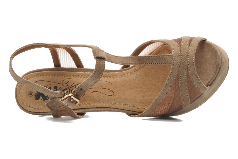 Sandales et nu-pieds Xti Ange Beige vue gauche
