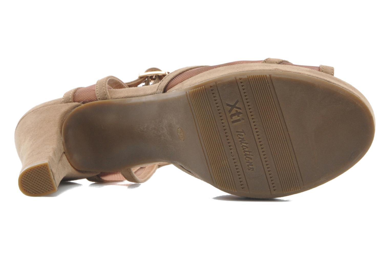 Sandales et nu-pieds Xti Ange Beige vue haut