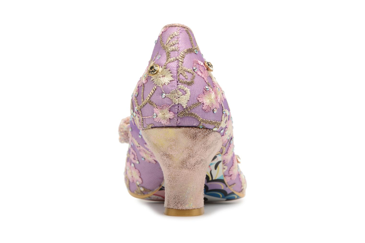 High heels Irregular choice Dazzle Razzle Purple view from the right