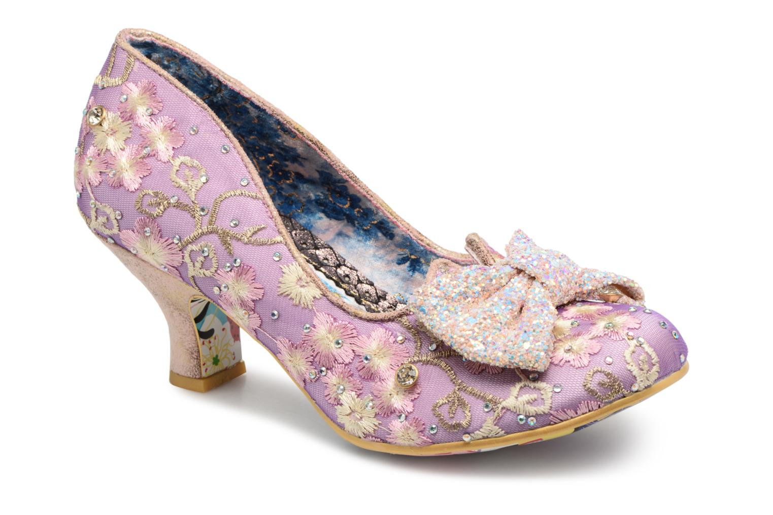 High heels Irregular choice Dazzle Razzle Purple detailed view/ Pair view