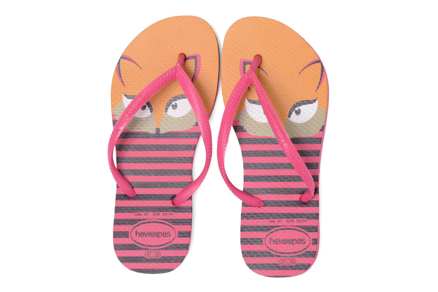 Tongs Havaianas Kids Slim Fashion Rose vue 3/4