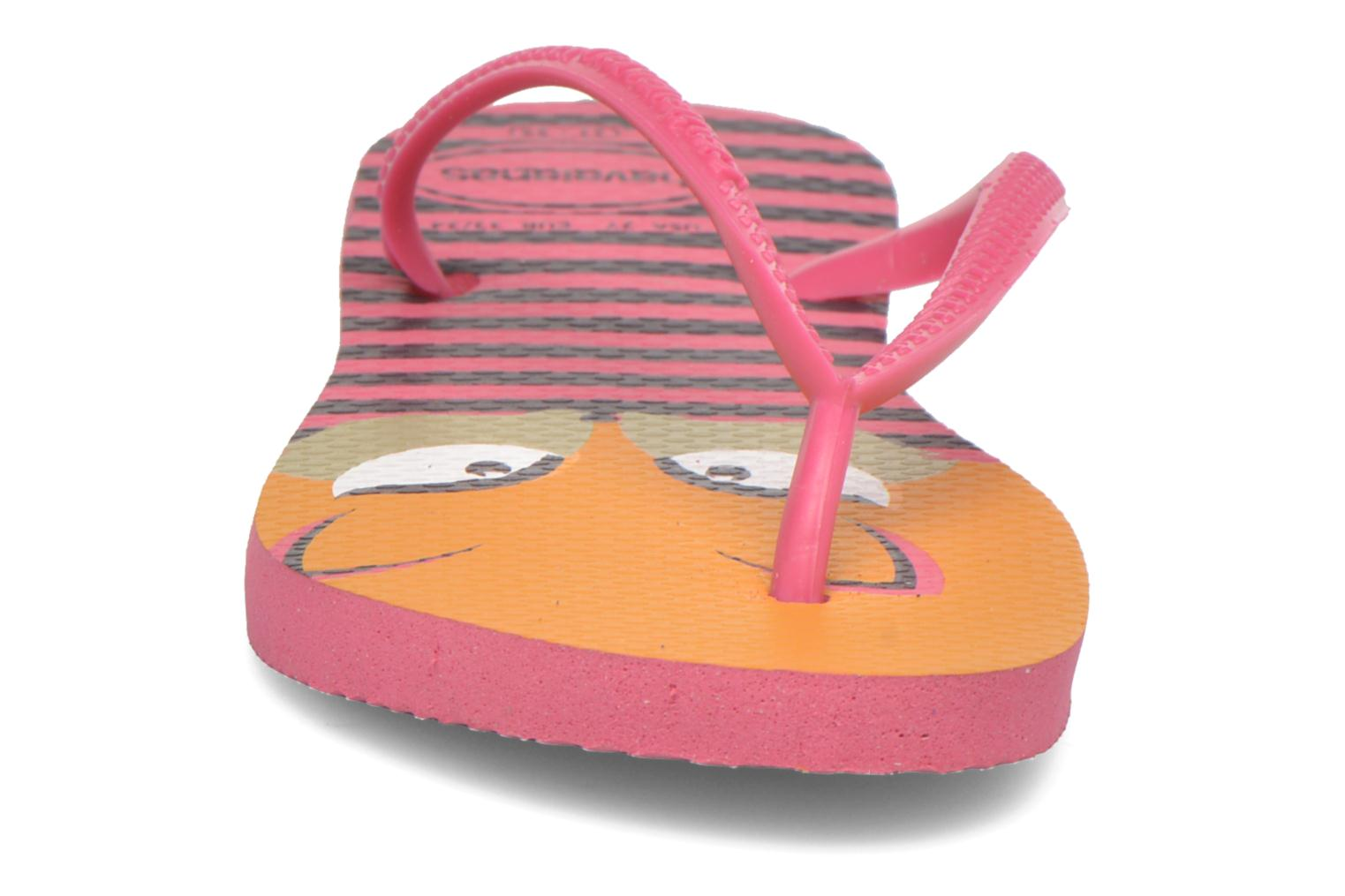 Chanclas Havaianas Kids Slim Fashion Rosa vista del modelo