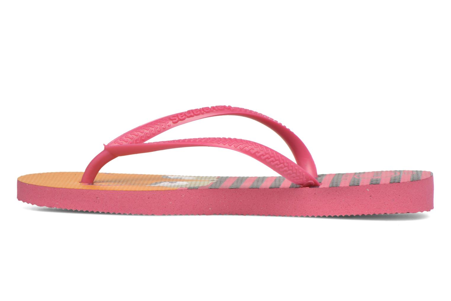 Tongs Havaianas Kids Slim Fashion Rose vue face