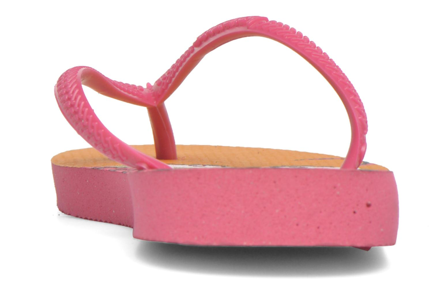 Chanclas Havaianas Kids Slim Fashion Rosa vista lateral derecha