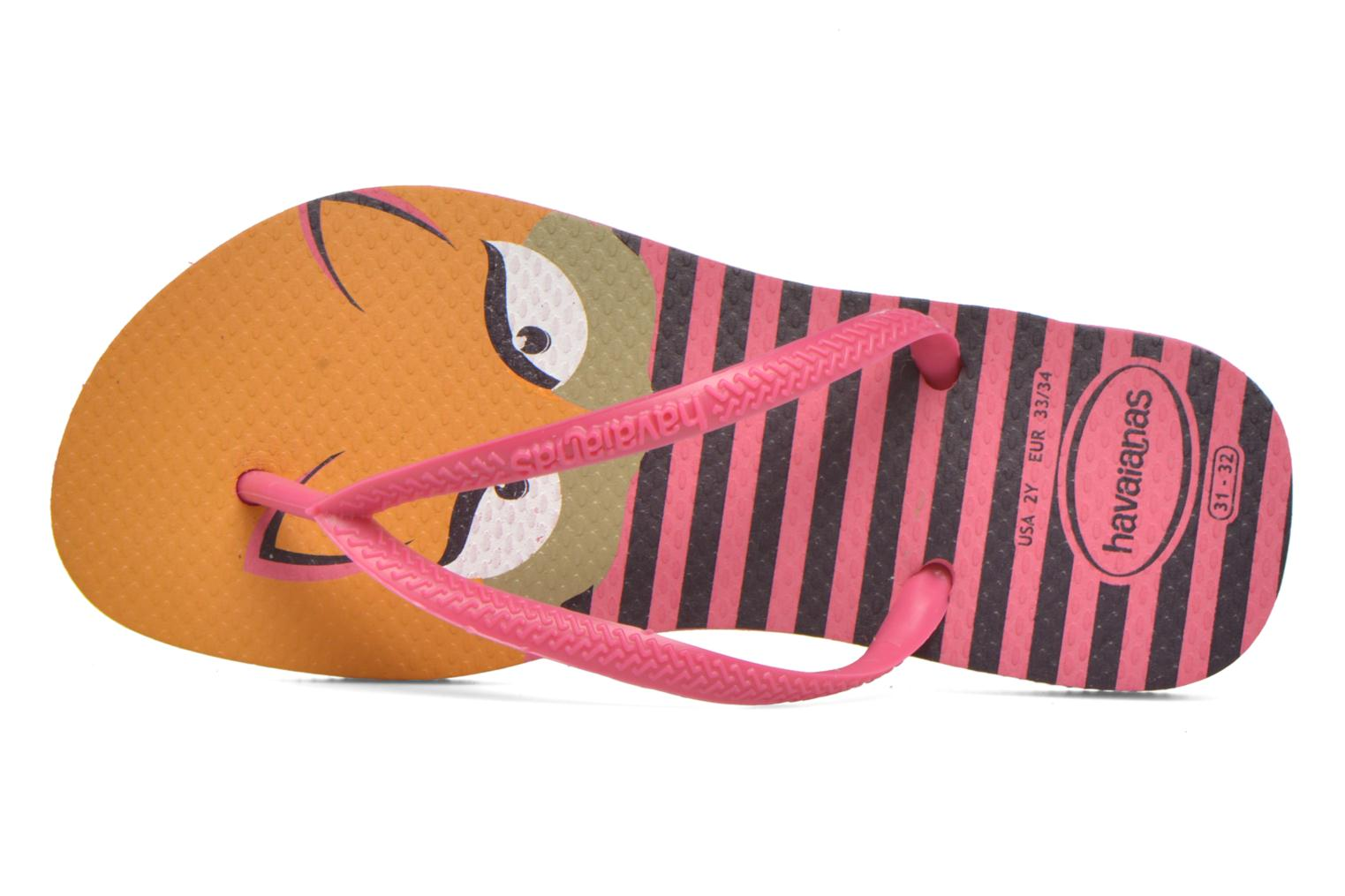 Chanclas Havaianas Kids Slim Fashion Rosa vista lateral izquierda