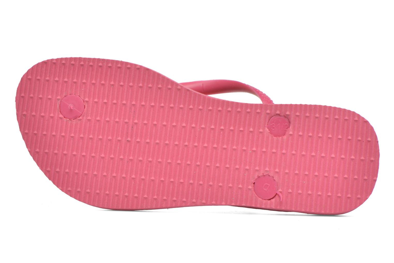 Tongs Havaianas Kids Slim Fashion Rose vue haut