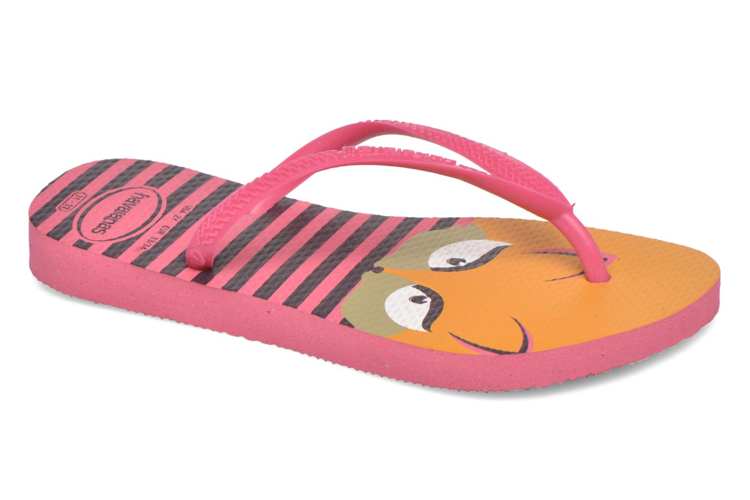 Tongs Havaianas Kids Slim Fashion Rose vue détail/paire