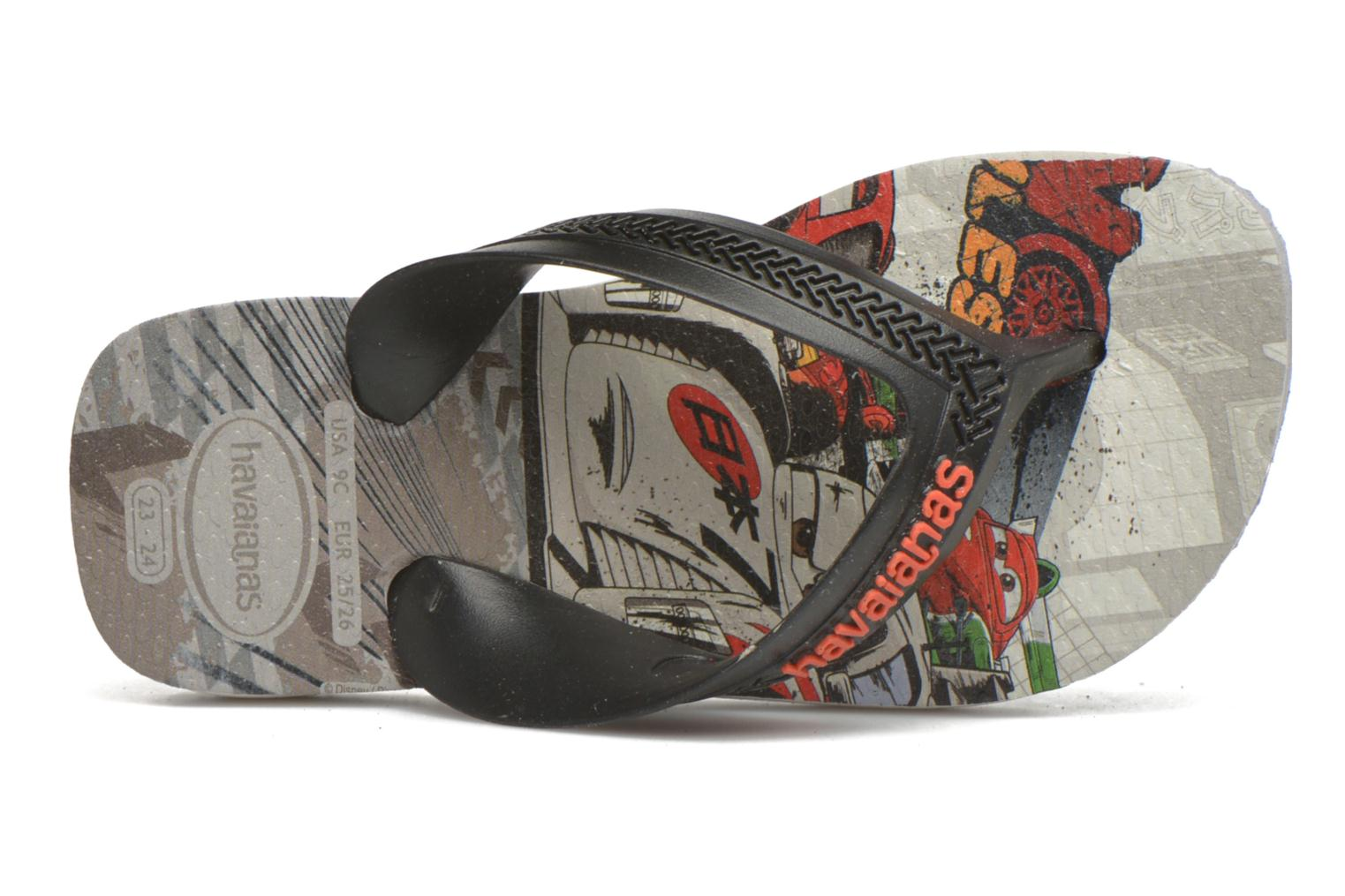 Flip flops Havaianas Kids Max Cars Grey view from the left