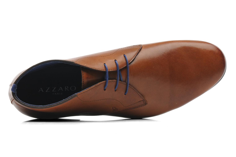 Zapatos con cordones Azzaro Ison Marrón vista lateral izquierda
