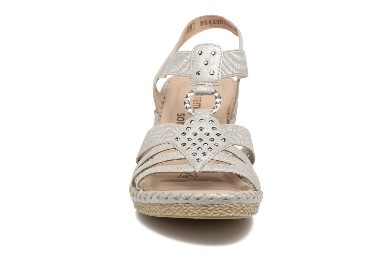 Sandales et nu-pieds Remonte Arasi D6768 Blanc vue portées chaussures