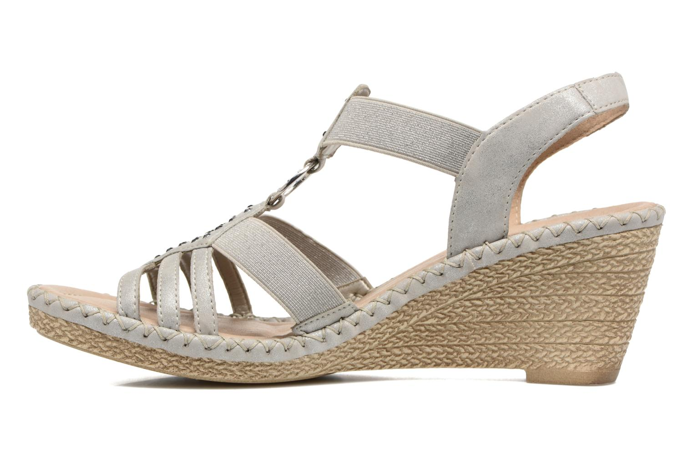 Sandales et nu-pieds Remonte Arasi D6768 Blanc vue face