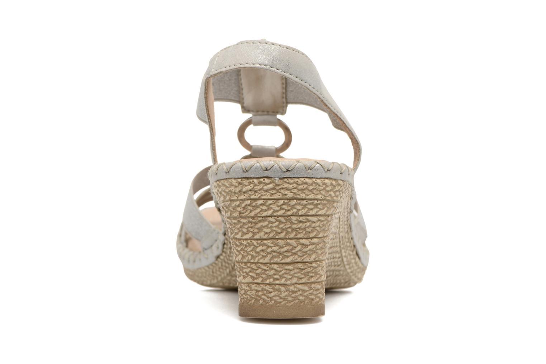 Sandales et nu-pieds Remonte Arasi D6768 Blanc vue droite
