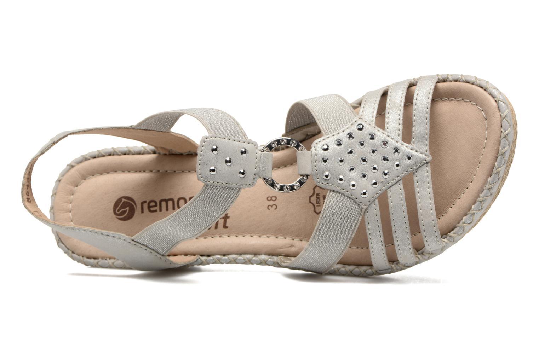 Sandales et nu-pieds Remonte Arasi D6768 Blanc vue gauche