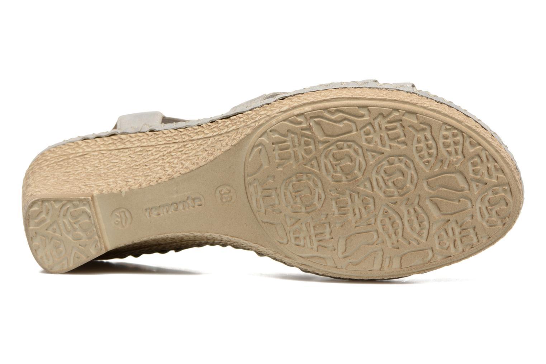 Sandales et nu-pieds Remonte Arasi D6768 Blanc vue haut