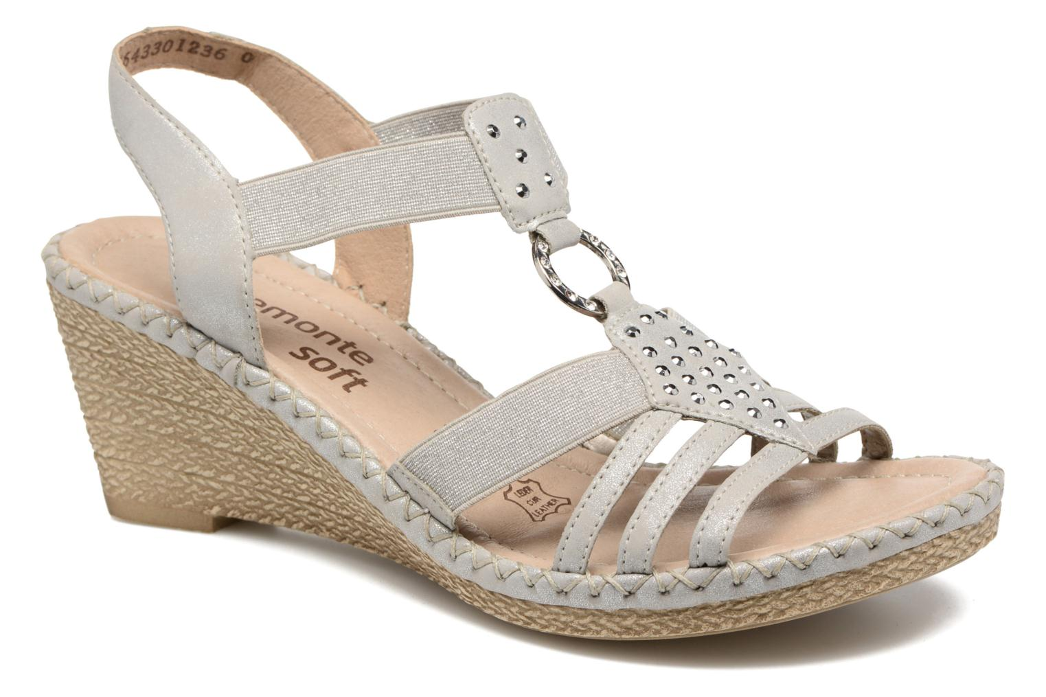 Sandals Remonte Arasi D6768 White detailed view/ Pair view