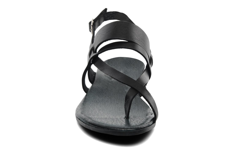 Sandales et nu-pieds Le Routard Maike Noir vue portées chaussures