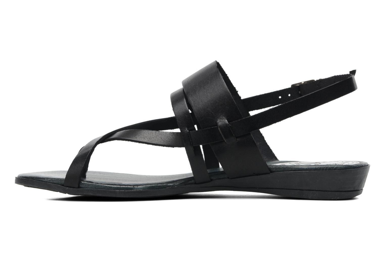 Sandales et nu-pieds Le Routard Maike Noir vue face