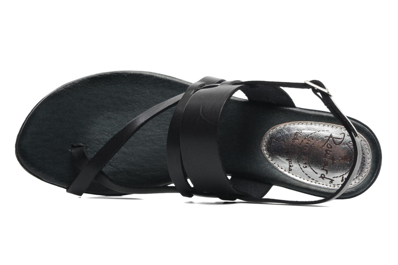 Sandales et nu-pieds Le Routard Maike Noir vue gauche