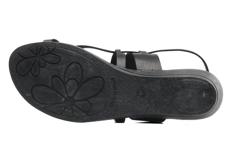 Sandales et nu-pieds Le Routard Maike Noir vue haut