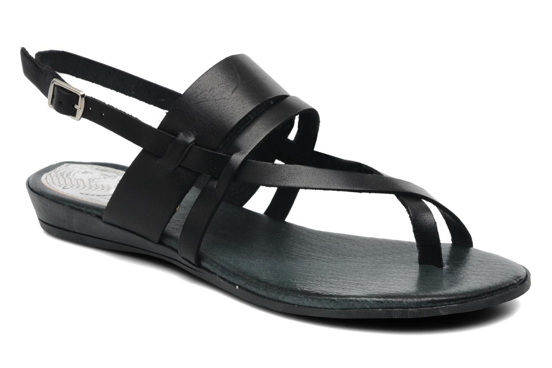 Sandales et nu-pieds Le Routard Maike Noir vue détail/paire
