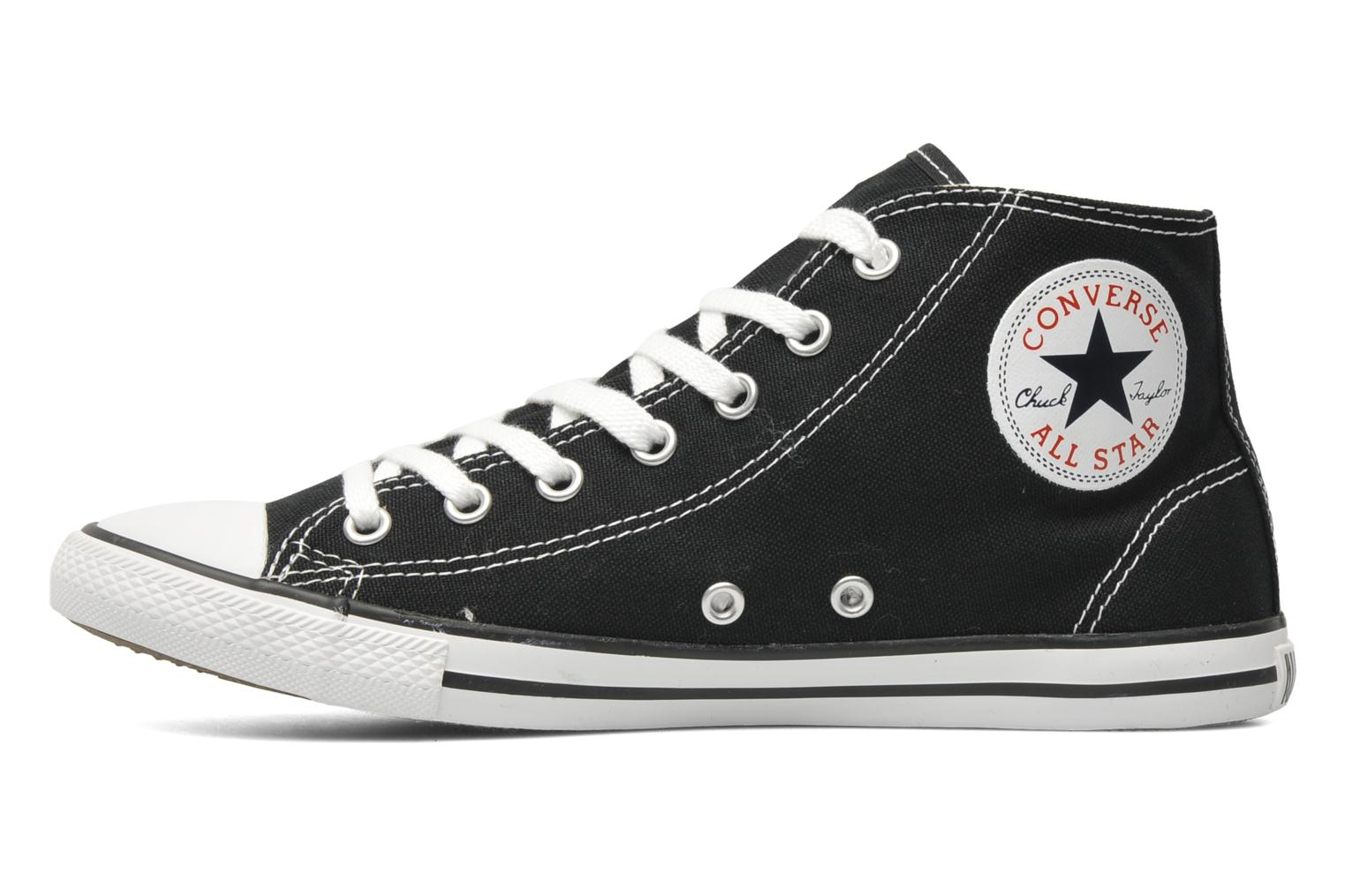 Sneakers Converse All Star Dainty Canvas Mid W Nero immagine frontale