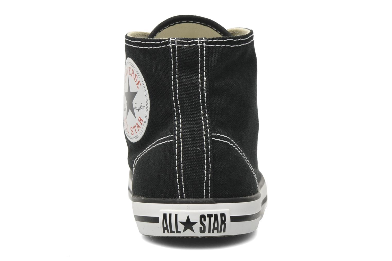 Sneaker Converse All Star Dainty Canvas Mid W schwarz ansicht von rechts