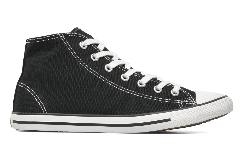 Sneaker Converse All Star Dainty Canvas Mid W schwarz ansicht von hinten
