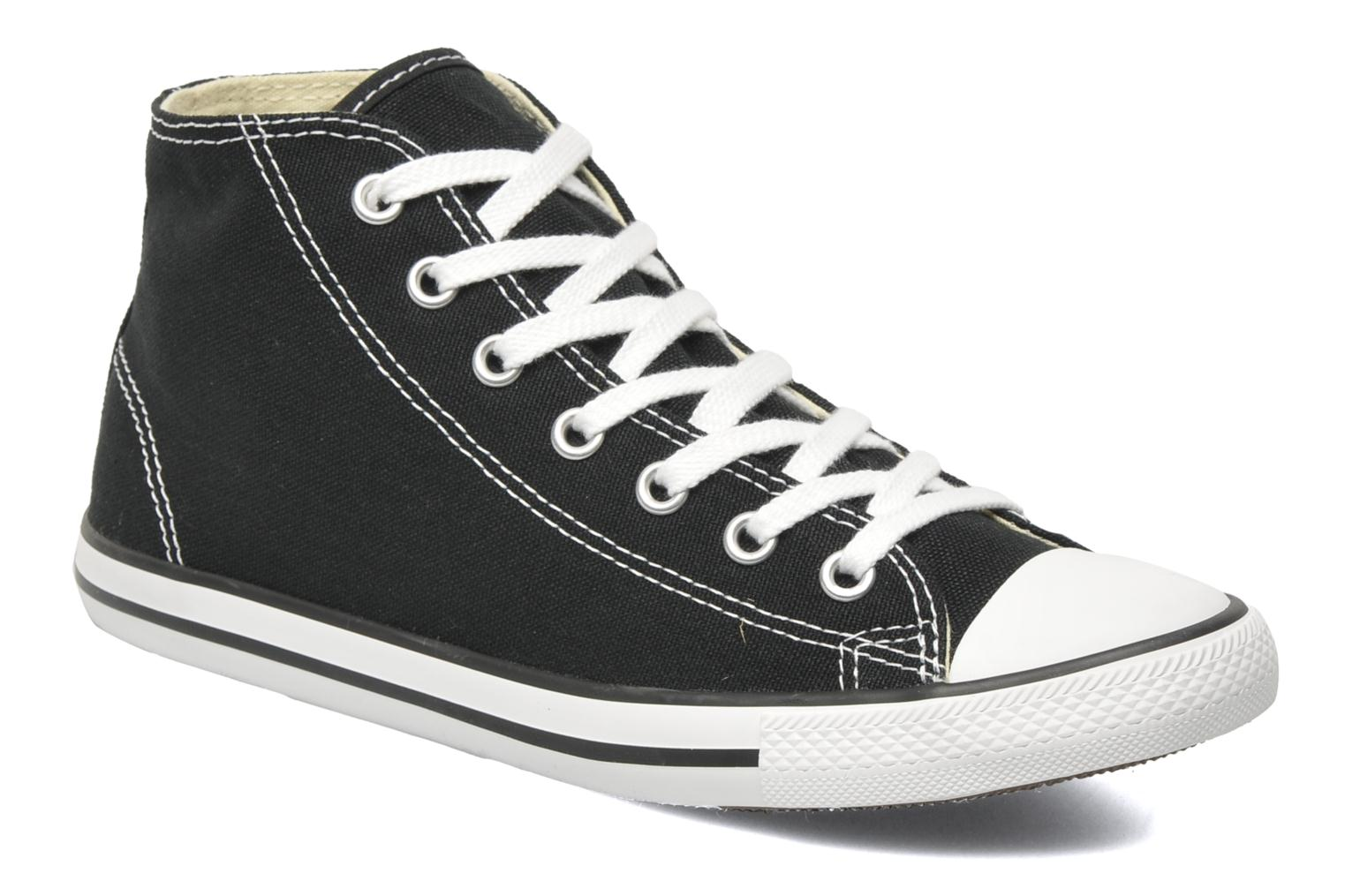 Converse All Star Dainty Canvas Mid W (Noir) - Baskets chez Sarenza (180639)