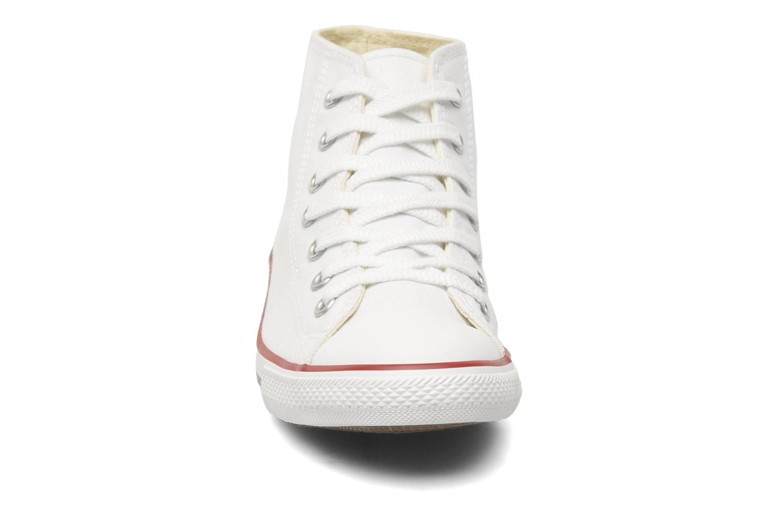 Baskets Converse All Star Dainty Canvas Mid W Blanc vue portées chaussures
