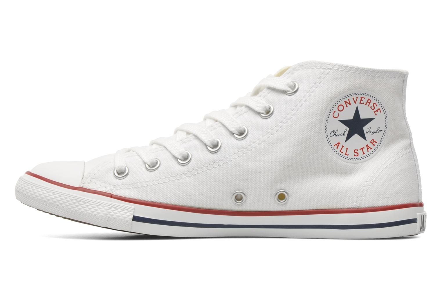 Baskets Converse All Star Dainty Canvas Mid W Blanc vue face