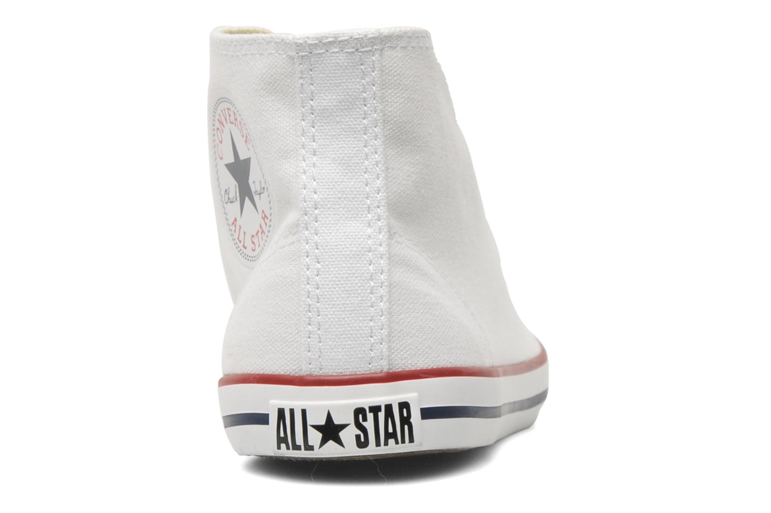 Baskets Converse All Star Dainty Canvas Mid W Blanc vue droite