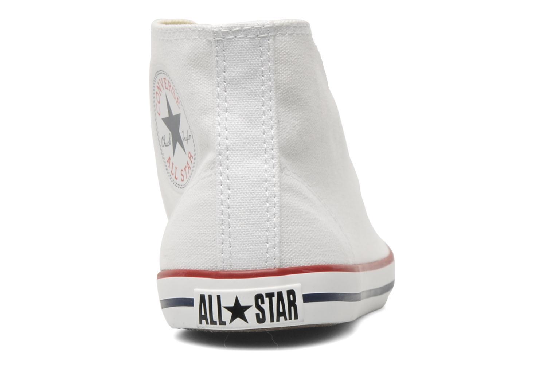 Sneaker Converse All Star Dainty Canvas Mid W weiß ansicht von rechts
