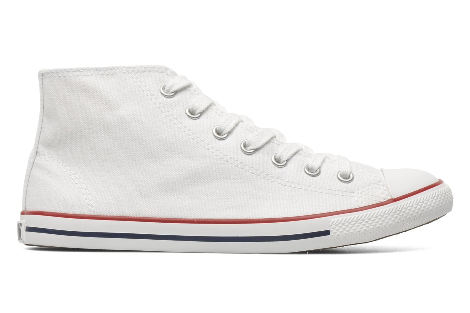 Sneakers Converse All Star Dainty Canvas Mid W Wit achterkant