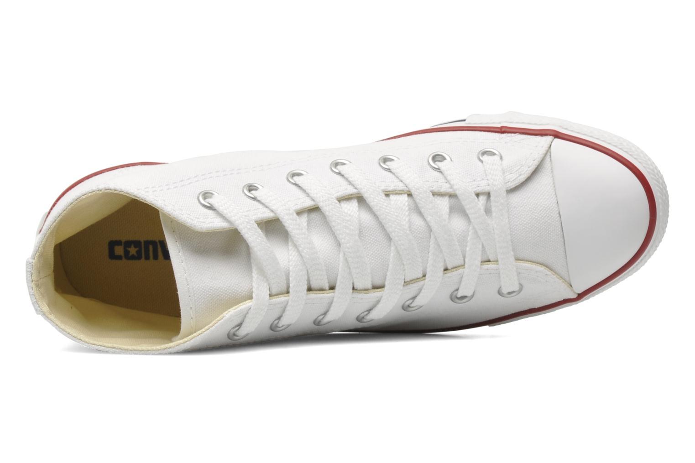 Sneaker Converse All Star Dainty Canvas Mid W weiß ansicht von links